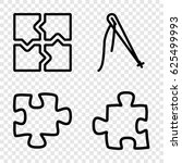 join icons set. set of 4 join...   Shutterstock .eps vector #625499993