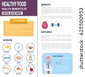 healthy food infographics... | Shutterstock .eps vector #625500953