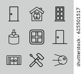 inside icons set. set of 9... | Shutterstock .eps vector #625501517