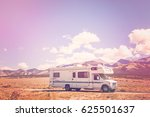 motor home near the great sand... | Shutterstock . vector #625501637