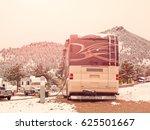 rv campsite in snow at estes... | Shutterstock . vector #625501667