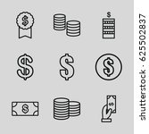 income icons set. set of 9... | Shutterstock .eps vector #625502837
