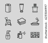 hygiene icons set. set of 9...   Shutterstock .eps vector #625504997