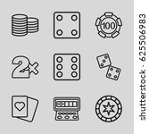casino icons set. set of 9... | Shutterstock .eps vector #625506983