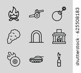 fire icons set. set of 9 fire... | Shutterstock .eps vector #625508183