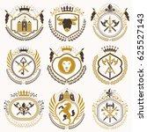 classy heraldic coat of arms.... | Shutterstock . vector #625527143