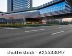 empty asphalt road along modern ... | Shutterstock . vector #625533047