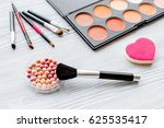 set of decorative cosmetics on... | Shutterstock . vector #625535417