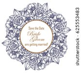 vintage delicate invitation... | Shutterstock . vector #625553483