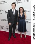 Small photo of New York, NY USA - April 21, 2017: Neal Dodson, Susan Leber attend Aardvark Premiere during 2017 Tribeca Film Festival at SVA Chelsea Theatre