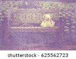 vintage bank in a park | Shutterstock . vector #625562723