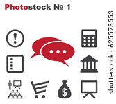 speech bubbles icon vector flat ... | Shutterstock .eps vector #625573553