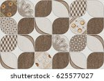 wall   floor tiles design...   Shutterstock . vector #625577027