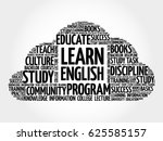 learn english word cloud... | Shutterstock . vector #625585157