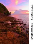 pink sunset exotic tropical... | Shutterstock . vector #625586663
