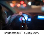 the man makes a smoke ring in... | Shutterstock . vector #625598093