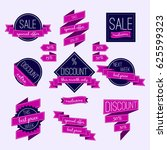 set of vector badges and labels.... | Shutterstock .eps vector #625599323