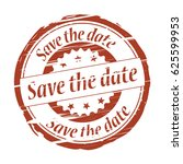 save the date grunge stamp.   Shutterstock . vector #625599953