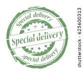 special delivery grunge stamp   ... | Shutterstock .eps vector #625600313