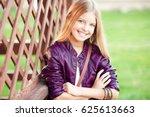 smiling teenage girl 14 16 year ... | Shutterstock . vector #625613663