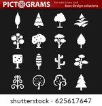 tree vector icons for user... | Shutterstock .eps vector #625617647