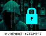 computer hacker or cyber... | Shutterstock . vector #625624943