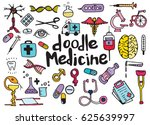 health care and medicine doodle ... | Shutterstock .eps vector #625639997