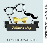 father's day. vector greeting... | Shutterstock .eps vector #625653143