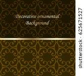 luxury colored ornamental... | Shutterstock .eps vector #625671527