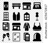 Front Icons Set. Set Of 16...