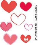 hearts   Shutterstock .eps vector #625688387