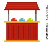 red carnival fair booth icon... | Shutterstock .eps vector #625707563