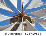 Detail Of A Windmill At Crete...