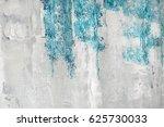 blue paint on a grunge wall... | Shutterstock . vector #625730033