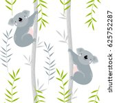 Vector Background With Koalas...