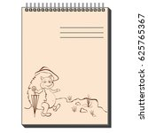 hand drawn sketch notepad with... | Shutterstock .eps vector #625765367