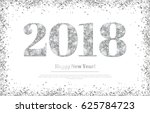 happy new year 2018 greeting... | Shutterstock .eps vector #625784723