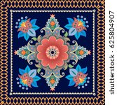 ethnic bandana print with... | Shutterstock .eps vector #625804907
