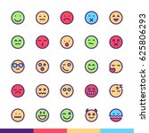 emoji   faces minimalist and... | Shutterstock .eps vector #625806293