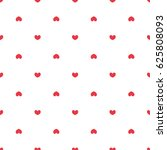seamless pattern with hearts   Shutterstock .eps vector #625808093