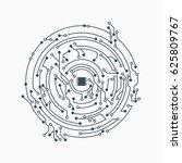 flat microelectronics circuit... | Shutterstock .eps vector #625809767