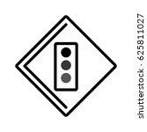 traffic light isolated icon | Shutterstock .eps vector #625811027