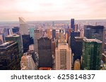 top view of some new york... | Shutterstock . vector #625814837