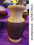 bamboo vase   basketwork made... | Shutterstock . vector #625817813