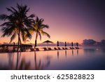 tropical beach resort with... | Shutterstock . vector #625828823