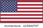 american flag  national flag of ... | Shutterstock .eps vector #625830707