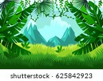 tropical forest. vector... | Shutterstock .eps vector #625842923