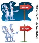 this way. rabbits found the... | Shutterstock .eps vector #625876103