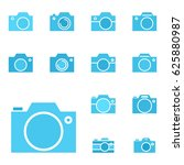 set of photo camera icon or... | Shutterstock .eps vector #625880987