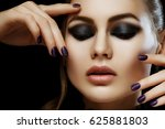 close up studio portrait of... | Shutterstock . vector #625881803